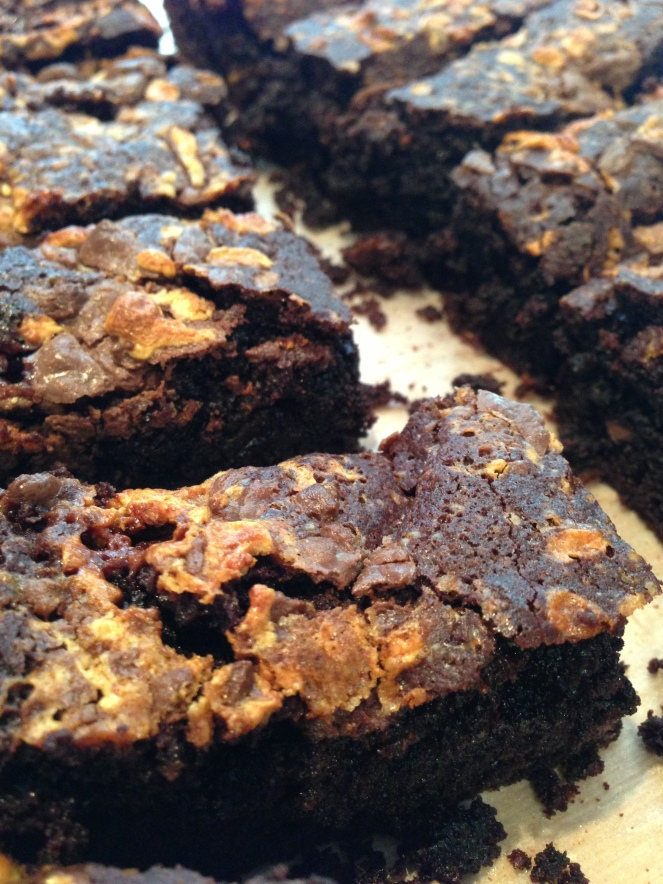 chocolate honeycomb brownie