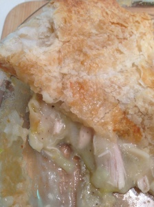 chicken and leek pie filling