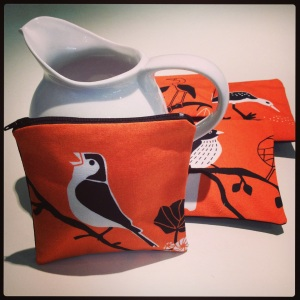 Twitter zippered purses