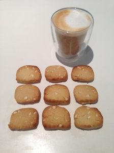 Rustic biscuits and coffee
