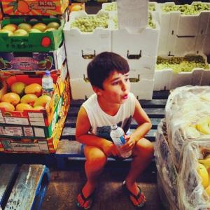 amongst the produce