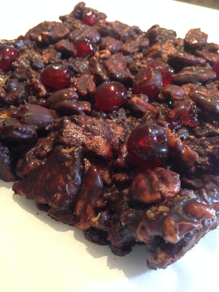 chocolate cherry nut refrigerator cake